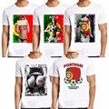 Los nuevos Mens Del Verano Camisa Portugal 2016 Punk Suporter Marca Ropa de Algodón O Del Cuello Camiseta de Los Hombres Harajuku Informal de Manga Corta Camisetas