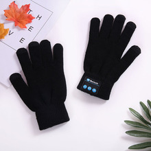 цена на Unisex Wireless Bluetooth Gloves Women Men Winter Knit Warm Mittens Call Talking Gloves Mobile Phone Pad 3 Colors