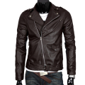 New Top Male Fashion Coat  Motorcycle Style Leather Jacket Solid Slim Turn Down Collar Leather Coat  Casual Slim Fit Clothing
