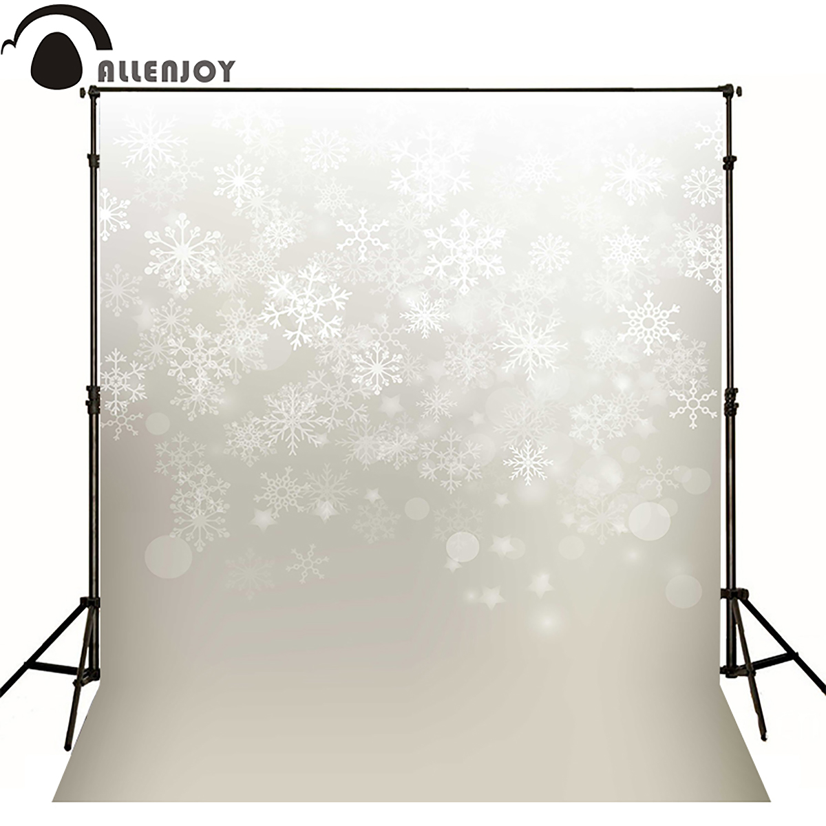 Allen joy christmas photography backdrops xmas snowflakes winter newborn snow background photocall vinyl fabric cartoon
