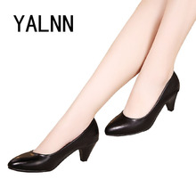 Womens Black High Heel Point Toe Shoes Classic Spring Autumn New Arrivals Stiletto Pumps Court Shoes Extra Size