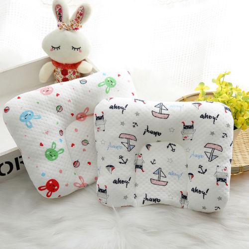 Infant Baby Newborn Pillow Memory Foam Positioner Prevent Flat Head Anti Roll