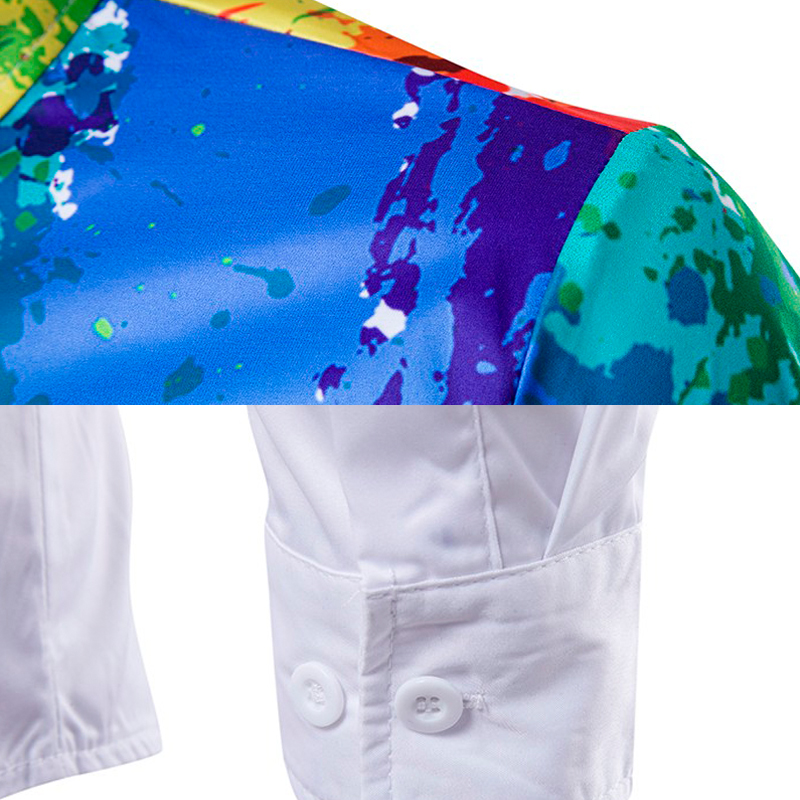 Neue Ankunft Männer Shirt Langarm Männer Druck Bunte Hemden Mode - Herrenbekleidung - Foto 5
