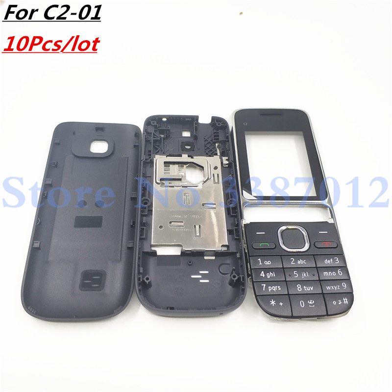 10Pcs lot Good Original New For Nokia C2 01 Housing Cover Door Frame Battery Back Cover