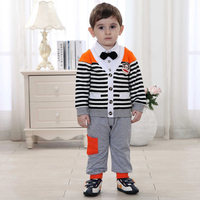 Boutique Kids Clothing Boys Children Celebrity Baby Style Striped Suit Clothes Turkey Autumn England Brand Kids