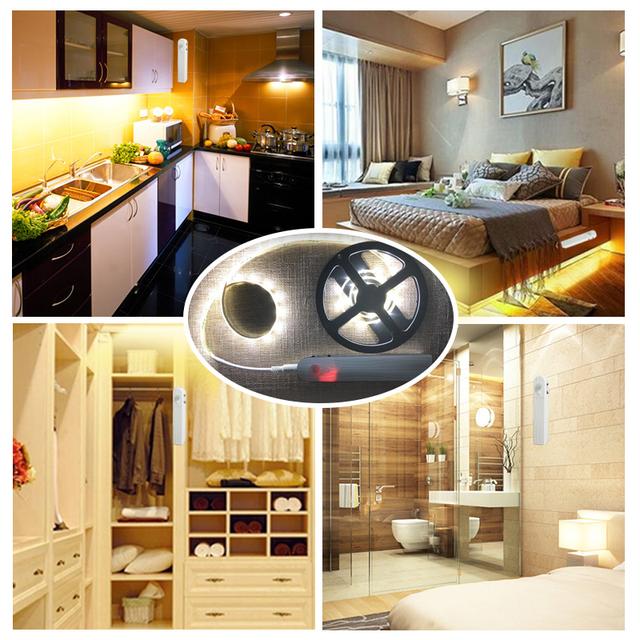 Goodland LED Under Cabinet Light PIR Motion Sensor Night Lamp Waterproof LED Strip For Wardrobe Armario Kitchen Closet