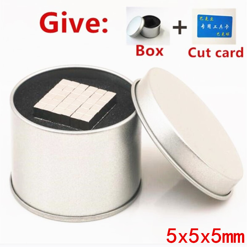 цены LEDERE Magnet Blocks 5mm 5x5x5 65/125/216/500/1000Pcs Magic Strong NdFeB Buck Block Creative Neodymium Magnet Magnets 5*5*5mm