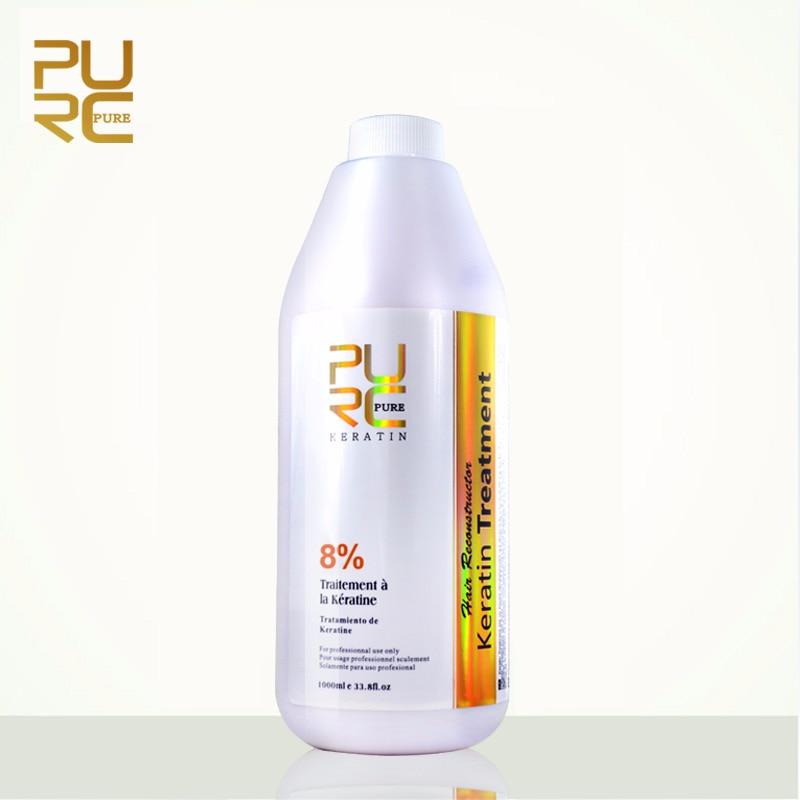 PURC Brazilian Keratin Hair Treatment Formalin 8% 1000ml Hot Sale Pure Straightening for