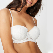 MiaoErSiDai סקסי נשים של חזיית מלא תחרה לדחוף את סקסי חזייה Strappless Bralette חתונה גברתי תחתוני 1/2 חזיית 30  38 A DDD