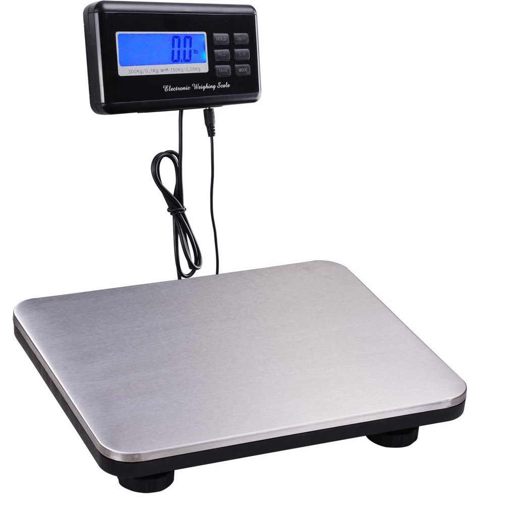 HOT SALE Digital 300KG 150KG Heavy Duty Stainless steel Platform Scale KG//LB//OZ