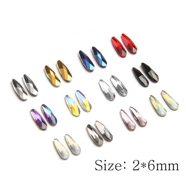 Online Shop ELESSICAL 10pcs Holographic K9 Glass Crystal Rhinestones ...