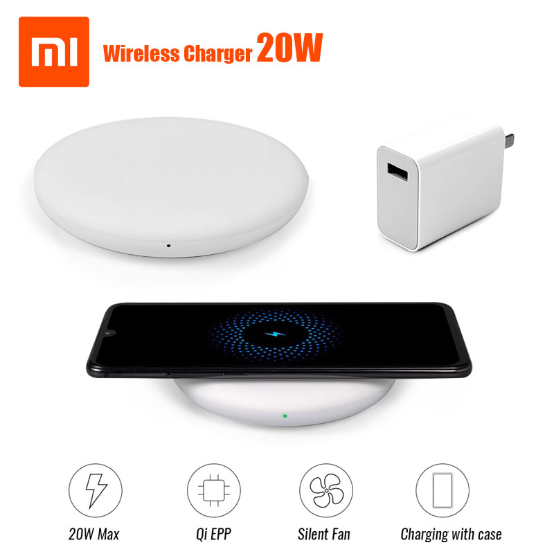 Xiaomi Wireless Charger 20W ( Fast wireless flash charging / independent silent fan / with Qi charging standard ) to Xiaomi Mi9