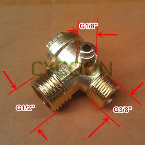 Zink-legierung überzug Messing Rückschlagrückschlagventil Für 24l 50l Kompressor G1/-g3/-g1/8 Ersatzteile