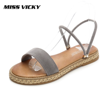 MISS VICKY 2019 new Korean version of wild sandals comfortable student female