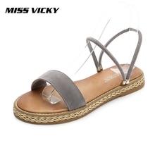 MISS VICKY 2019 new Korean version of wild sandals comfortable student female sandals vladimir ross miss lala sandals
