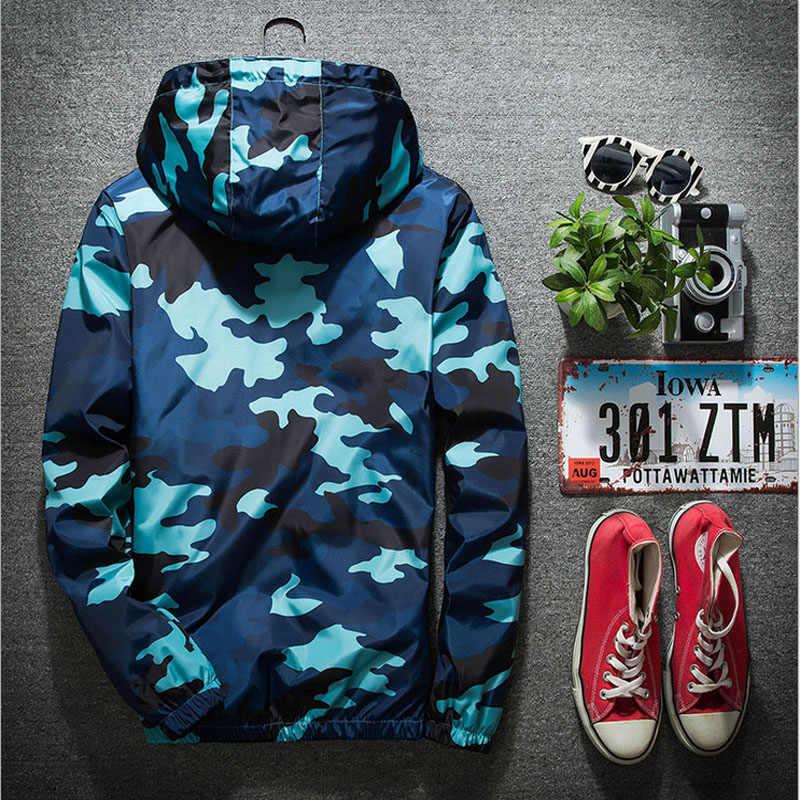Бренд 2018 осенние куртки с капюшоном мужская Тонкая камуфляжная мужская куртка милитари размера плюс M-3XL быстросохнущая Мужская ветровка