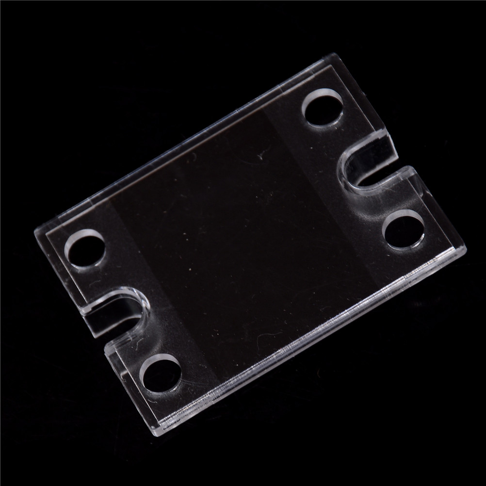 New Safety Cover Case for Single Phase Solid State Relay SSR Clear Plastic Cover