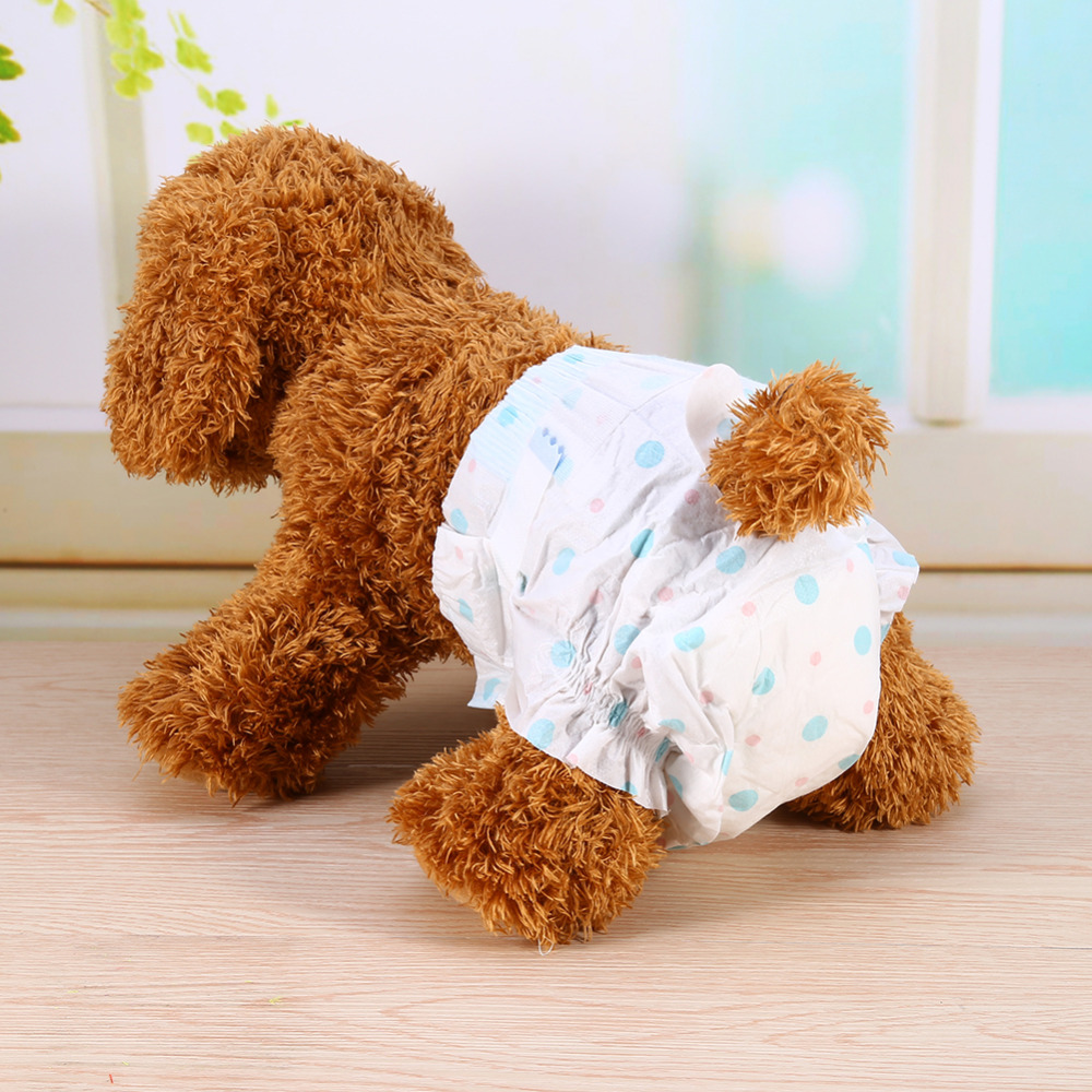10Pc/Bag Super-absorbent Pet Diapers Disposable Dog Health Pants Female Dog Physiological Shorts Sanitary Cotton Underwear