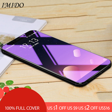 IMIDO Full Cover Anti Blue Tempered Glass for Meizu 15 Plus Anti-Blue Light Screen Protector M15 15P Protective Film