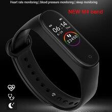 цена Passometer M4 band Smart Watch women Call Reminder Sport Smartwatch men Fitness bracelet/Tracker Watch PK mi band 4 IOS Android онлайн в 2017 году