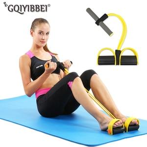 Elastische Pull Touwen Abdominale Sporter Roeier Buik Weerstand Band Home Gym Sport Training Elastiekjes Voor Fitness Apparatuur(China)