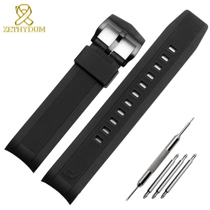 Pulseira de borracha de silicone 22mm para casio EQS-500C ERA-300 ERA-200B assista bracelete banda pulseira de pulso do esporte dos homens à prova d' água