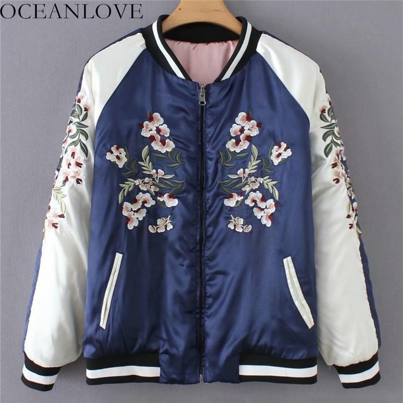 b8872834ed5 OCEANLOVE-bordado-Floral-cremallera-chaqueta-de-las-mujeres-Collar-de-manga- larga-Casual-abrigo-Reversible-2019.jpg