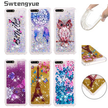 For Coque Huawei Honor 7A pro case Dynamic Liquid Glitter Silicone Soft TPU cover sFor Fundas Y6 2018 Phone Cases