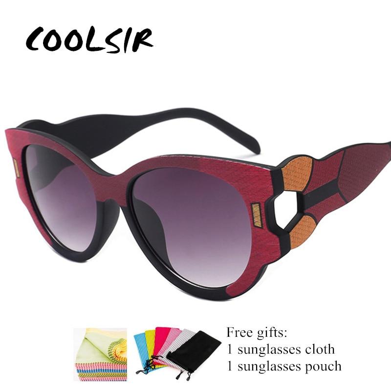COOLSIR Oversize Cat eye Sunglasses Women 2019 Trending Fashion Eyewear Brand Designer Sun Glasses Female Shades