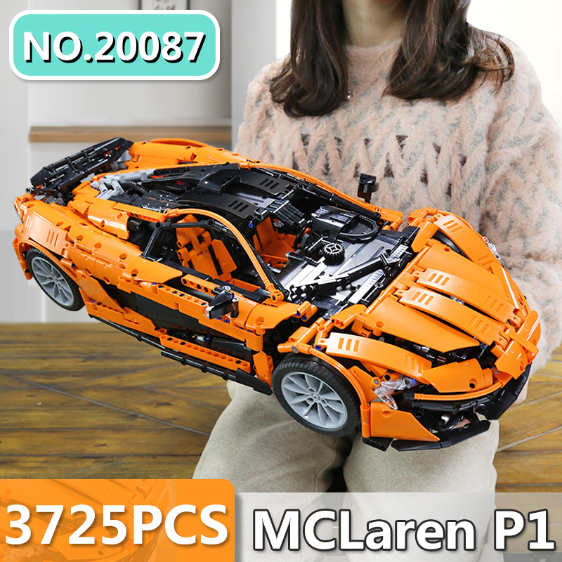 DHL Lepin 20087 Technic Toys The MOC-16915 Orange Super Racing Car Set Building Blocks Bricks Kids Toys Car Model Christmas Gift
