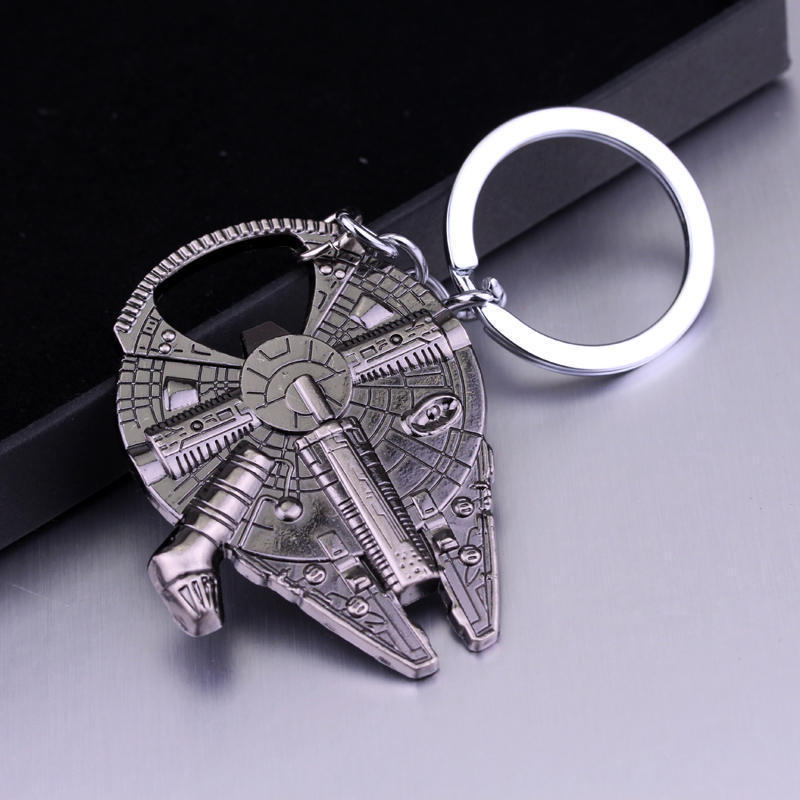 Image 3 - Bottle Opener Keychain Metal Stainless Steel Key rings Collection Figurines For Star War Fans Gifts-in Action & Toy Figures from Toys & Hobbies