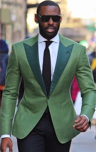 US $68.31 30% OFF|2017 neuesten Mantel Hose Designs Grün Männer Anzug Bunten Slim Fit jacke Kundenspezifische Party Moderne Stilvolle Männer Smoking 2