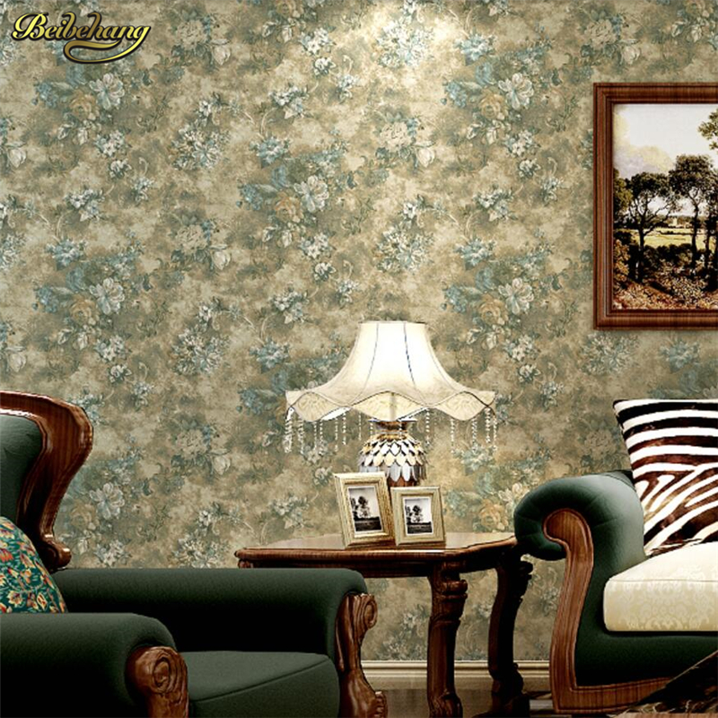 beibehang Pure paper retro American village wallpaper pastoral bedroom bedroom living room sofa TV wall papel de parede large mural papel de parede european nostalgia abstract flower and bird wallpaper living room sofa tv wall bedroom 3d wallpaper