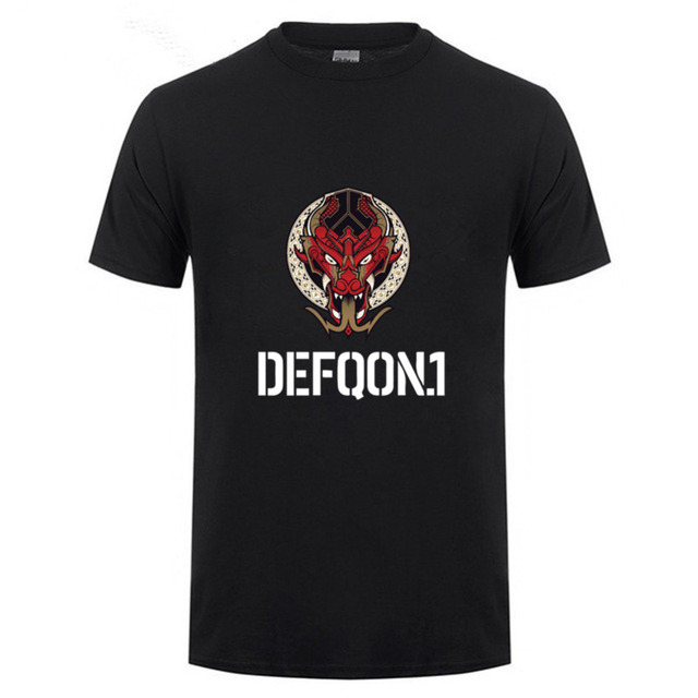 4e326f9cf2a68 US $5.94 46% OFF|Defqon.1 Dragonbloon 2018 T Shirt Cotton short Sleeve  Clothes Pop Streetwear T Shirts hombre tops tee Male Hip Hop T Shirts-in ...
