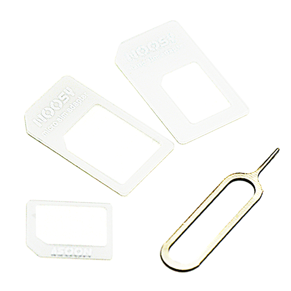 4 In 1 For NANO SIM Adapter With Card Pin For IPhone 4/4S For NANO SIM Card Transformation For IPhone 5/5S/5C Drop Shipping