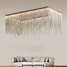 IKVVT Post-modern Aluminum Pendant Lights Luxury Chrome/Rose golden LED Hanging Lamp for Livingroom Restaurant Hotel Hall Parlor недорого