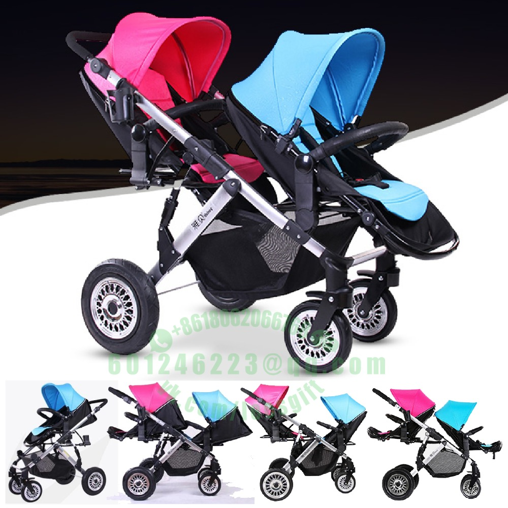 Luxury high Landscape Folding Travel Stroller front rear Twins baby Strollers Cars Trolley PushchairLuxury high Landscape Folding Travel Stroller front rear Twins baby Strollers Cars Trolley Pushchair