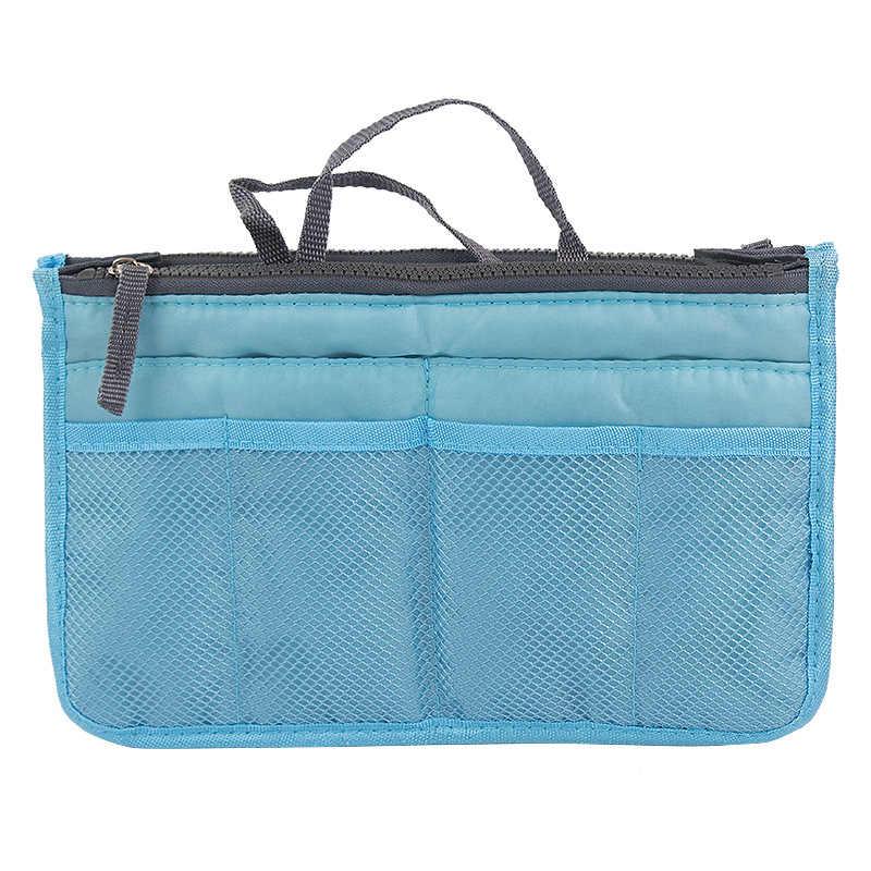 MOGULVXING Maquiagem Cosmetic Bag Organizador Inserir bolsa de Viagem Mulheres Nylon Tote Bolsa Bolsa forro Grande Senhora Tote Sacos De Armazenamento