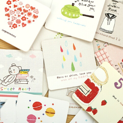 Hot selling students diy bussiness cards7070mmkorea cartoon i hot selling students diy bussiness cards7070mmkorea cartoon i series mini greeting card set with enveloperistmas gift gree in business cards from m4hsunfo