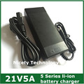 21v5a cargador de batería de litio 5 Series 100 - 240 V 21 V 5A cargador de batería para batería de litio con luz LED muestra de carga de estado