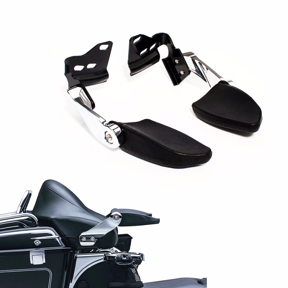 Chrome Stealth Passenger Armrests Tour Pack Pak for Harley Touring