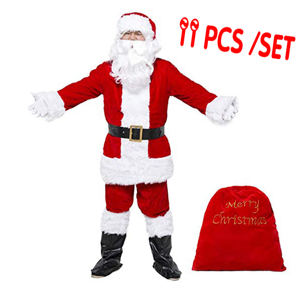 Adult Christmas Costumes Santa Claus Costume New Year Costume Adult Family Christmas Clothes Men Party Cosplay Suit Santa