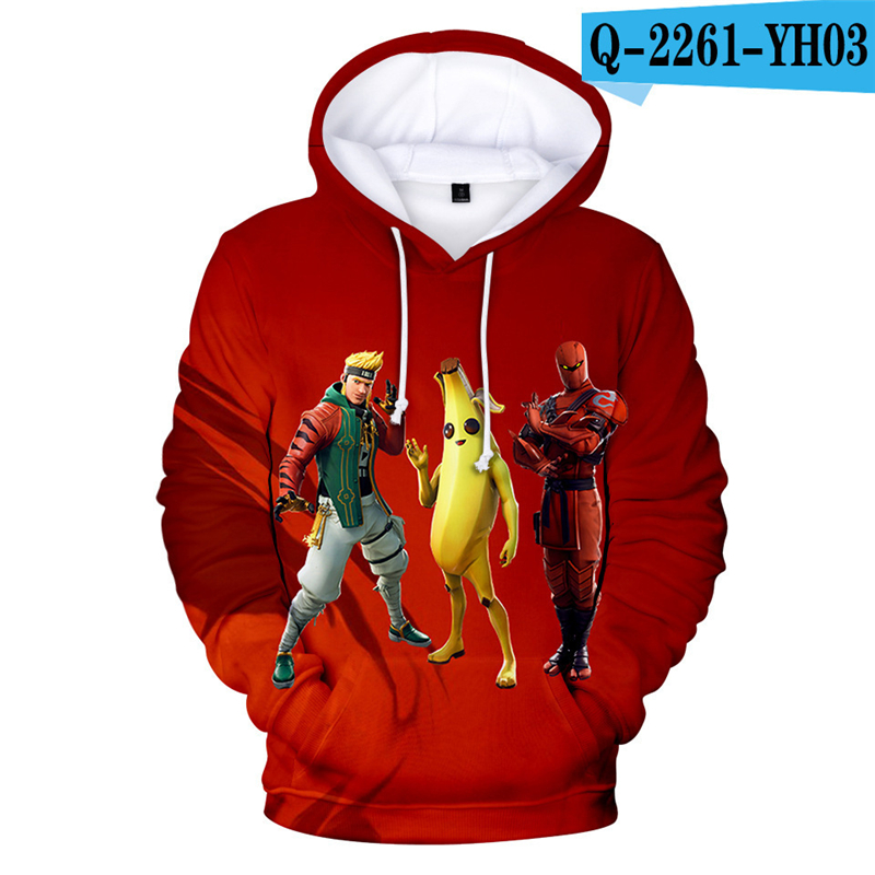 Fornite 3D Hoodie Fortnited Print Fortnited Battle Royale Pullover Moletons Streetwear Women Clothing Kid Clothes Game Clothes