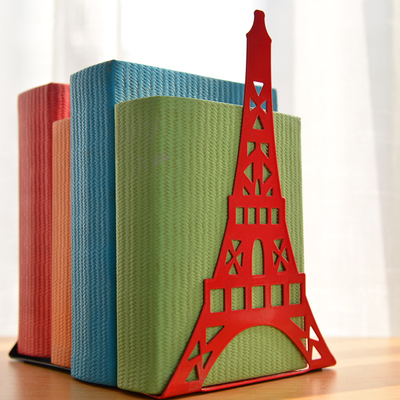 2pcs Pair Korean Large Fashion Bookshelf Metal Bookend Eiffel Tower Desk Holder Stand For Books OrganizerWhite Black Red Blue In Bookends From Office