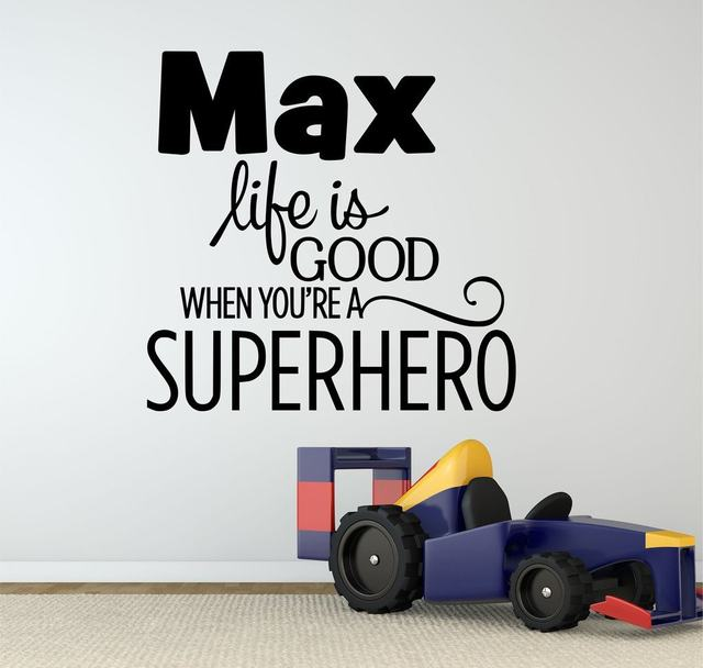 HWHD Fashion Superhero Quote Decal Removable Vinyl Batman Wall Decal For  Kids Boy Room Free Shipping