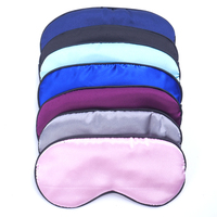 1PC New Pure Silk Sleep Eye Mask Padded Shade Cover Travel Relax Aid Blindfold 9 ColorsTravel Accessories Free Shipping Travel Accessories