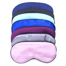 Masque de sommeil en soie Pure, accessoires de voyage, couverture d'ombre rembourrée, bandeau pour les yeux, aide à la relaxation, 9 couleurs, livraison gratuite