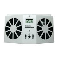 Car Solar Powered Exhaust Fan Car Gills Cooler Auto Ventilation Fan Dual mode Power Supply High power