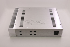 Image 5 - BZ3207C כסף מארז אלומיניום מלא מגבר מארז מיני AMP תיבת חד צדדי רדיאטור מקרה