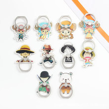 5PCS/Lot Wholesale Universal Finger Ring Holder Mobile Phone Holders Stands One Piece Figures Luffy Zoro Chopper for Samsung